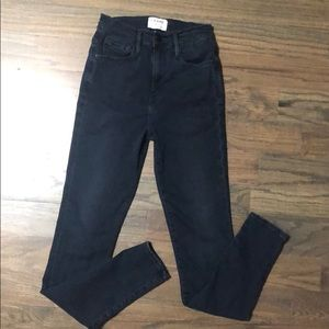 Frame Headworth high rise skinny jeans size 25.
